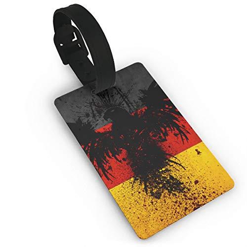 Sheery German Flag Eagle Luggage Tags Business Card Holder Travel ID Bag Tag