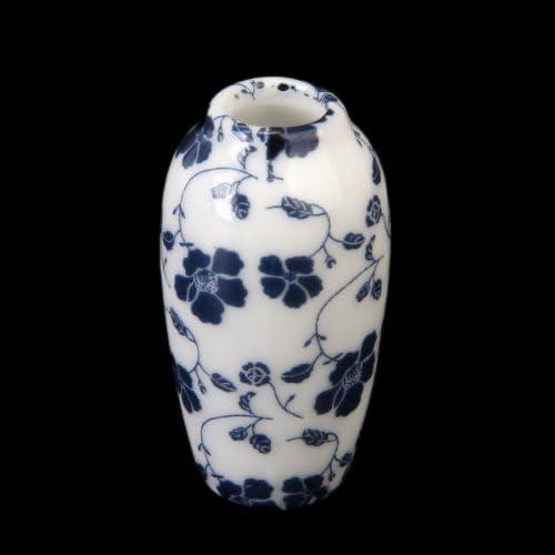 14pcs 1:12 Miniature Vases En Porcelaine Colorés Décor de bureau de maison