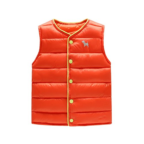 Fry Costume Jacket (BAOBAOLAI Unisex Kids Waistcoat Cartoon Solid Color Down Vest jacket)