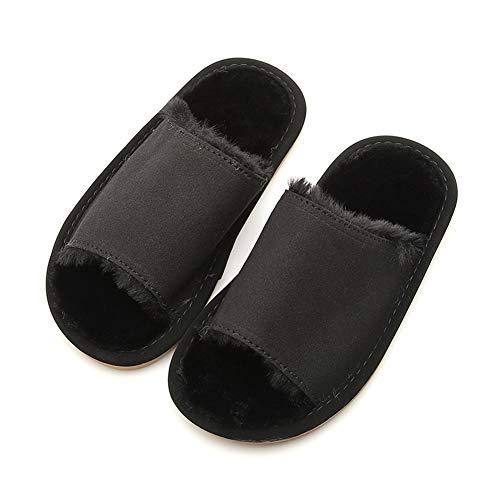 Sans Coton L'usure Chaussures Au Fond Innerlength19 5cm Pantoufles Souple Doigts À La Un glisse Yangyongli Mode Anti Résistant Noir En Noir Chaud Wat6qx
