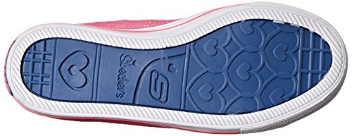 Skechers Twinkle Toes Chit Chat Light-Up Lace-Up Sneaker Blue/Neon Pink