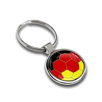 Llavero de fútbol balón Bandera alemana metal Keyring Llave ...