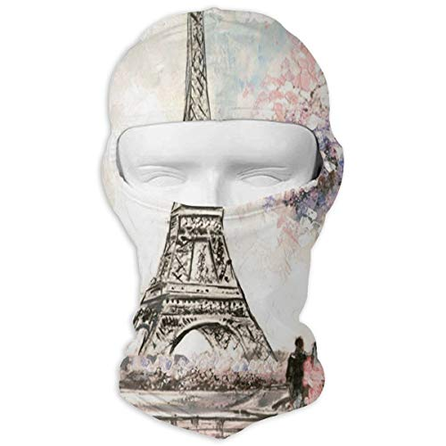 Price comparison product image Balaclava Love In Eiffel Full Face Masks Ski Motorcycle Neck Hood