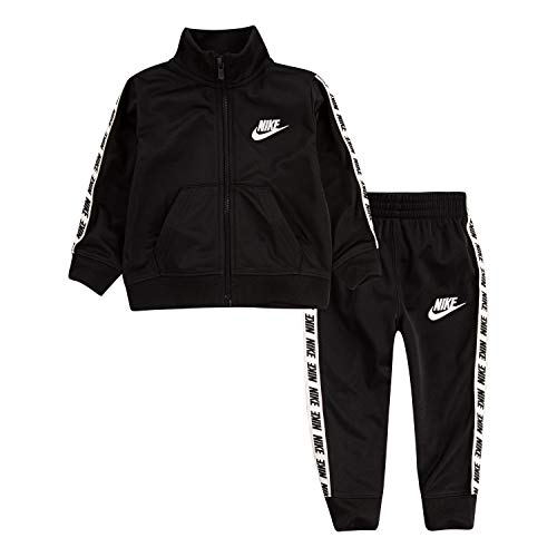 Nike Baby Boys Tricot Track Suit 2-Piece Outfit Set, Black, 18M