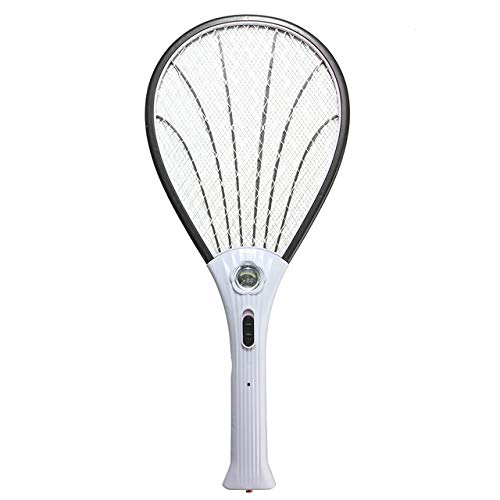 Garden Home Mosquito Swatter Portable Electric Pest Bug Insect Fly Swatter Zapper Racket Killer Tools Pest Control Accessories   Black