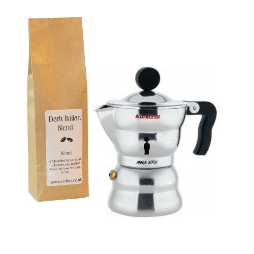 Alessi - Cafetera italiana (1 taza, incluye 250 g de café): Amazon ...