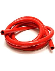 """HPS HTHH-038-REDx10 Red 10' Length Silicone High Temperature Reinforced Heater Hose (3/8"""" Id)"""