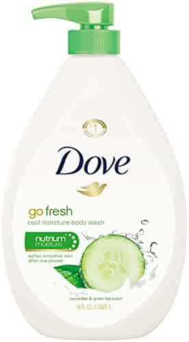 Dove Body Wash Pump, Cucumber and Green Tea 34 oz