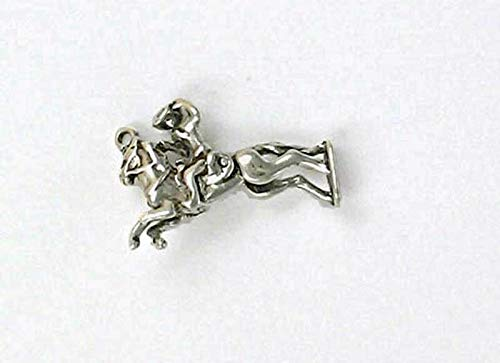 - Sterling Silver 3-D Movable Bronco Rider Charm for Jewelry Making Bracelet Necklace DIY Crafts
