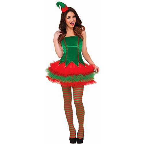 Womens Elf Costume (Forum Novelties Women's Sassy Elf Costume, Multi, Medium/Large)