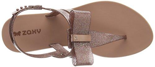 Zaxy Women's Glaze Bow T-Bar Sandals Pink (Rose Glitter) BL2WlCoT