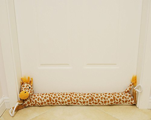 "MAXTID 36"" Giraffe Door Draft Stopper (1.76 lbs) with Handles, Save Energy & Money, Keep Heat In (giraffe)"