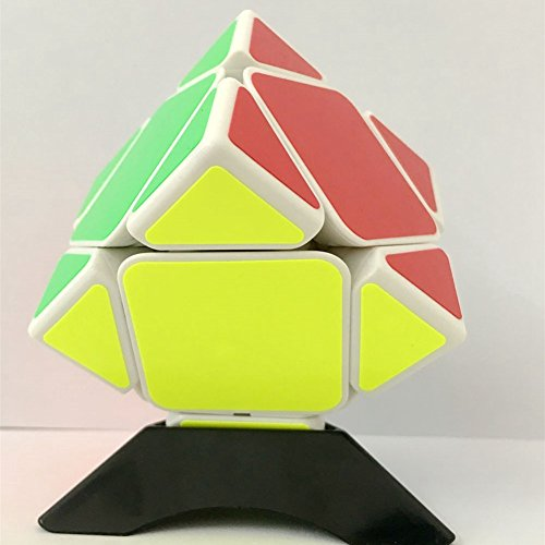 Type Cube Puzzle (Leoie shengshou 3x3 Professional Skewb Cube Three Layers Hexahedron Puzzle Cubes Brain Teaser Speed Cube White by Leoie)