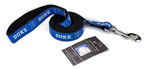 All Star Dogs 1 Inch Duke Blue Devils Ribbon Dog Leash - 6 Foot by All Star Dogs