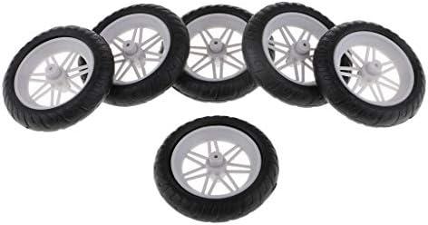 ホイールセット 車輪 ゴム タイヤ DIY用 オートバイスペアパーツ おもちゃ 車用 6個セット