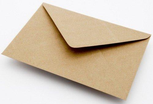 100 x 125x175mm Plain Ribbed Recycled Kraft Card Envelopes Natural Brown (I6) Tiger Cub Stationery + Craft