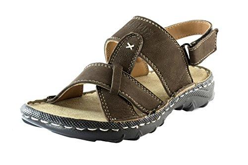 Kinsu Men's Brown Leather Sandal SA502