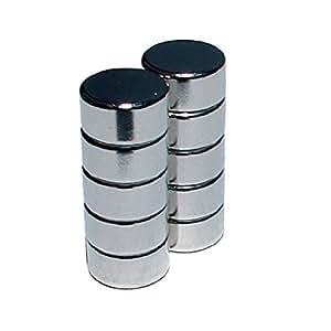 FLUX-objects - Juego de 10 imanes de neodimio para pizarra blanca