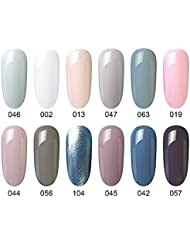 Gel Nail Polish Set - 12 Pcs 8ml Each Gel Nail with...
