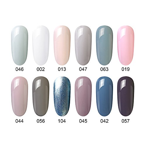 Gel Nail Polish Gift Set, 12 Pcs, Soak Off Nail Art Manicure