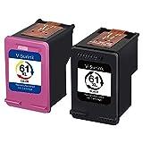 Remanufactured Ink Cartridge with Latest Updated chip for Hp 61 61XL Envy 4500 5530 5534 5535 Deskjet 2540 1000 1010 1512 1510 3050 Officejet 4630 2620 4635 Printer,Show Ink Level V-Surink