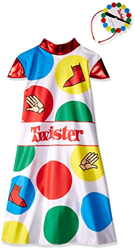 Disguise Hasbro Games Twister Girls Costume, 10-12 (Good Funny Halloween Costumes)