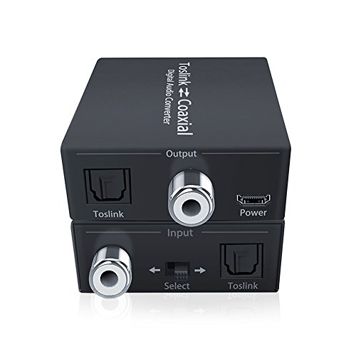 Coaxial to SPDIF Toslink, SPDIF to Coaxial Toslink, Digital Audio Signal Amplifier Switcher, SPDIF and Coaxial to Optical SPDIF Coaxial Audio Adapter