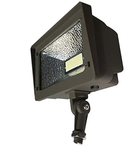 LED Flood Light with 180° Adjustable Knuckle, 50W Security Lights IP65 Waterproof Outdoor Lighting, 250W Equivalent 5000K 5500lm 100-277Vac, ETL DLC Listed 10-Year Warranty by Kadision (No Photocell) by kadision