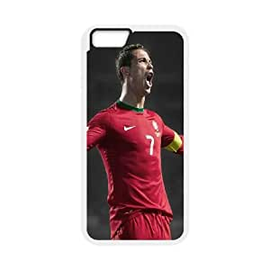 iPhone 6 Plus 5.5 Inch Cell Phone Case White Ronaldo Roar Color Number Seven Ulxfi