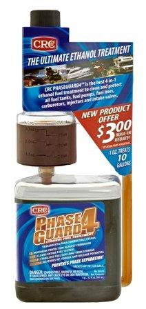 CRC Industries 06143 PhaseGuard4 Ethanol Fuel Treatment Phase Guard - 32 Oz.