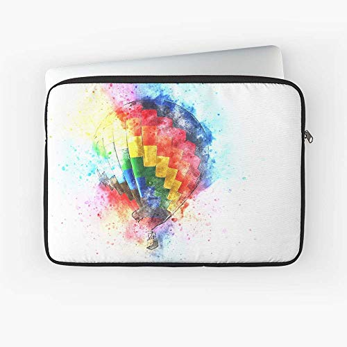 Watercolor Hot Air Balloon Laptop Sleeve - The Best Gift for Family and Friends.]()