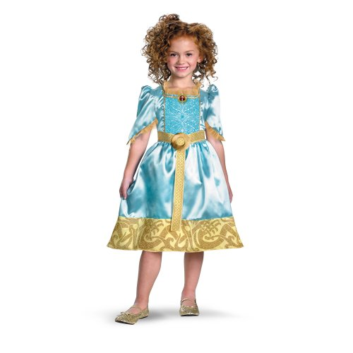 Brave Merida Classic Costume, Auqa/Gold, (Brave Costume For Toddler)