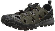Merrell Choprock Leather Shandal, Zapatillas Impermeables para Hombre, Gris, 45 EU