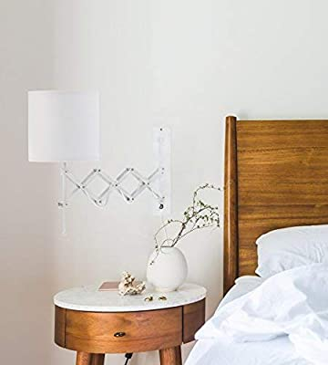 Modernluci Wall Sconce LED Wall Light Modern Plug in Bedroom Lamp Sets