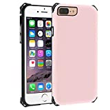 LOVE MEI TPU Cell Phone Case Compatible for Apple iPhone 8 Plus, iPhone 7 Plus, iPhone 6 Plus Shockproof Anti Scratch Drop Resistant Ultra Slim Hybrid Armor Cover for iPhone 6/7/8 Plus (Rose Gold)