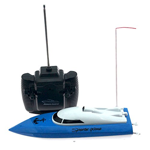 RC Boat for Girls and Boys Electric Birthday Gift for Kids 4CH Radio Controlled Boats/Ships Pool & Outdoor Use (Blue)