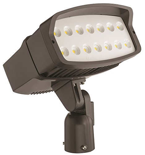 Lithonia Lighting OFL2 LED P3 50K MVOLT is DDBXD M2 5000K Color Temperature LED Size 2 Floodlight with P3 Performance Package - Slipfitter Mount