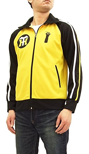 SAMURAI JEANS Men's Slim Fit Fashion Track Jacket Hanshin Tigers HTJS18-101 Yellow Japan S (US XS/UK 34) ()