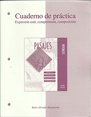 Workbooklab Manual Ta Pasajes Lengua By Mary Lee Bretz