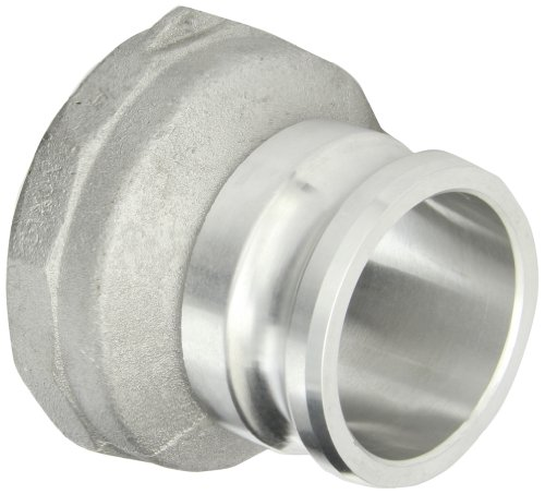 "Dixon 3040-A-AL Aluminum Type A Cam and Groove Reducing Hose Fitting, 3"" Plug x 4"" NPT Female"