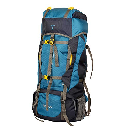 TRAWOC 60LTravel Backpack for Outdoor Sport Camp Hiking Trekking Bag Camping Rucksack 1 Year Warranty (Blue) Price & Reviews