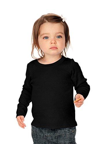 Kavio! Unisex Infants Baby Doll Long Sleeve Top Black 24M