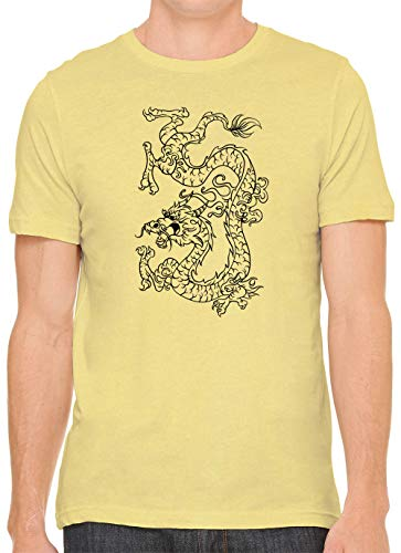 Austin Ink Apparel Dragon Tattoo Unisex Premium Crewneck Printed T-Shirt Tee