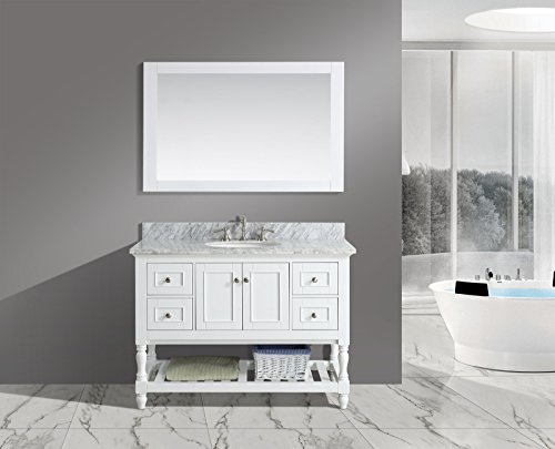 Furnishing Silvia Single Bathroom Carrara