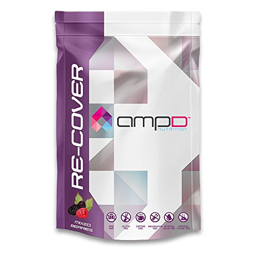 AMPD Re-Cover (428 Grams - 30 Servings) Mixed Berry - Post Workout Supplement - Recovery Drink with Essential Amino Acids, HMB, ZMA and Perluxan