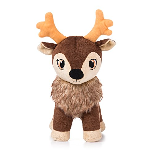 Portable North Pole Karamelli Santa's Sweetest Baby Reindeer Plush Toy with Personalized Video Message from Santa