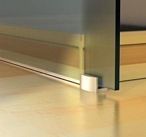 Homcom - Puerta corredera de cristal templado con 4 bandas ...