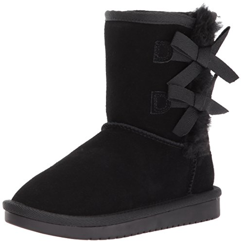 Koolaburra by UGG Girls' Victoria Short Fashion Boot, Black, 01 Youth US Little Kid -