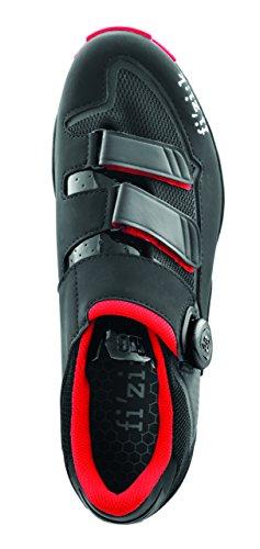 Zapatillas Fizik M6B Negro-Rojo 2016