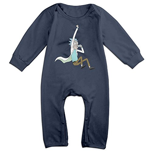 Price comparison product image MJML5 KidsToddler Rick And Morty Poster Romper Jumpsuit 12 Months Navy